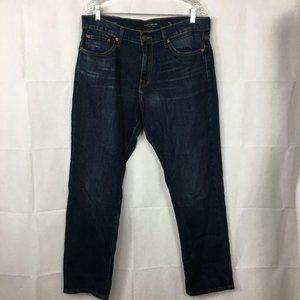 Lucky Brand 221 Straight Jeans Sz 34 New Dark Wash
